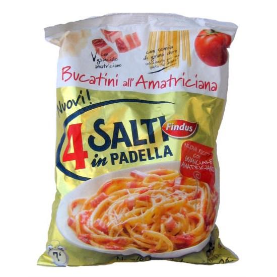 Bucatini alla amatriciana surgelati findus 4 salti i for Cucinare 4 salti in padella