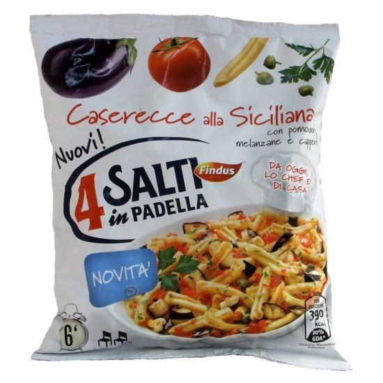 Caserecce alla siciliana surgrelate findus 4 salti i for Cucinare 4 salti in padella