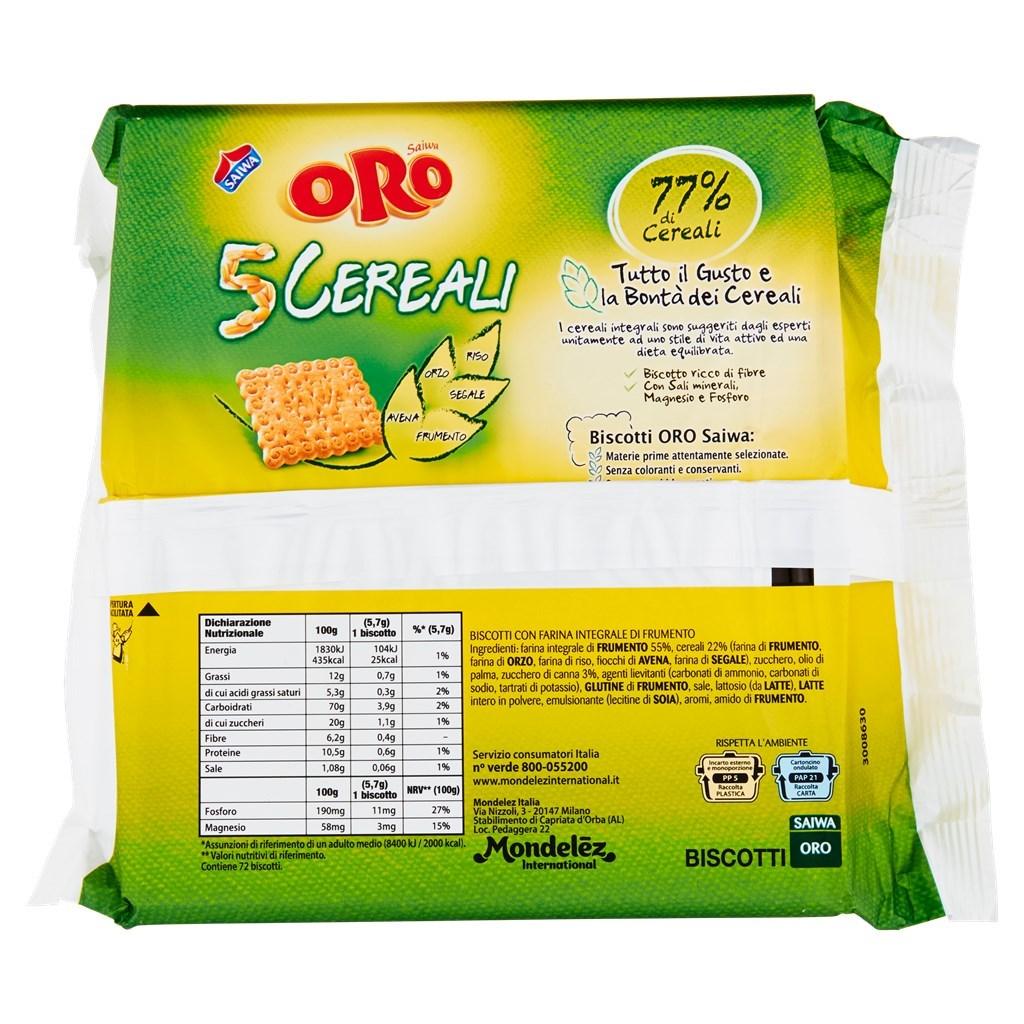 Oro Saiwa 5 Cereali 400 g , Supermercato CRAI AGV , Spesa online ,  drindrin.it