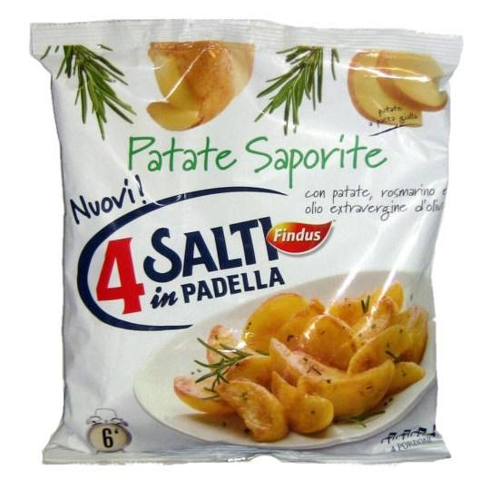Patate saporite surgelate findus 4 salti in padella 450 g for Cucinare 4 salti in padella