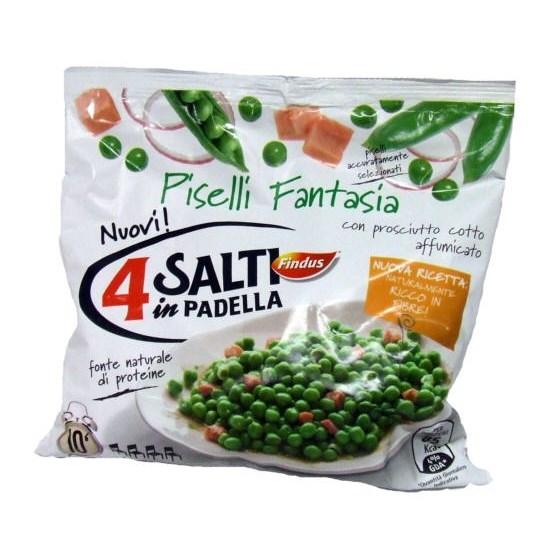Piselli fantasia surgelati findus 4 salti in padella 450 g for Cucinare 4 salti in padella